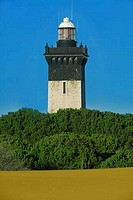 Lighthouse on the coast, Grau Du Roi, Gard, Languedoc_Rousillon, France