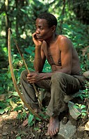 Batwa Pygmies are hunter_gatherers, Ntandi village, Semliki National Park, Uganda