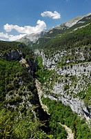 Canyon near Escuain, Spain, Pyrenaeen, NP Ordesa