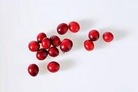 Several cranberries