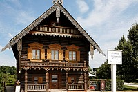 Wooden house in traditional Russian style, Russian colony, Alexandrowka, Potsdam, Brandenburg, Germany, Europe