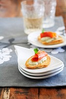 Salmon Bruschetta Appetizer