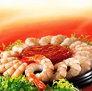 Prawn ring with dip