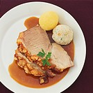 Roast pork with crackling and dumplings