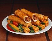 Platter of Beef Taquitos