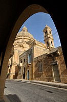 Xewkija Church, Gozo island, Malta, Europe, november 2009