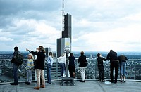 view from the Maintower on the Commerzbank_Tower, Germany, Hesse, Frankfurt/Main