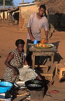 woman selling food, Ghana, Larabanga