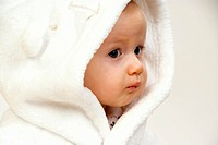 baby in bath robe