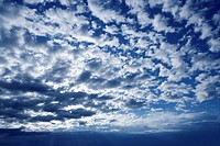 Blue beautiful sky with white clouds view in sunny day, textured