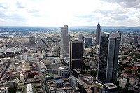 high_rise buildings, Germany, Hesse, Frankfurt