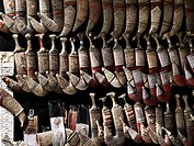 shop with daggers, jambiyas, Yemen, Sanaa