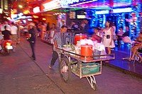 A thai man different foot in Patpong in bangkok, Thailand, Bangkok