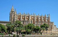 La Seu Cathedral, Palma de Mallorca, landmark, Majorca, Balearic Islands, Spain, Europe