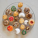 variety of home baked christmas cookies