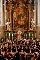 Concert in St. Nikolaus Parish Church, Muehldorf am Inn, Bavaria, Germany, Europe