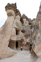 fairy chimneys in Zelve, Turkey, Cappadocia