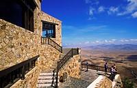 View from the Mirador Morro Velosa to the Valle de Santa Ines, Canary, Fuerteventura, Betancuria