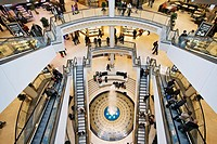 interior view of the shopping centre Limbecker Square in the city, Germany, North Rhine_Westphalia, Ruhr Area, Essen