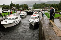Locks between Loch Ness and Loch Oich at Fort Agustus
