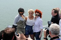 ESC Eurovision Song Contest, Belgrad by Boat, girlband No Angels enjoyed two hours with journalists on the rivers Save and Danube, Belgrade, Serbia, E...