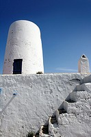 Formentera near Ibiza island white houses Mediterranean architecture