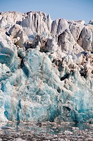 detail of the impressive King´s Glacier in King´s Fjord, western Spitsbergen, Norway, Svalbard, Svalbard Inseln