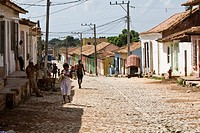 Street in Trinidad, Sancti-Spíritus Province, Cuba, Latin America, America