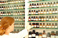 medicaments in a drugstore