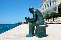 sculpture at the qay in Zadar, Croatia, Dalmatien