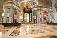 Italy, Rome, Vatican, St. Peter´s Basilica, Altar