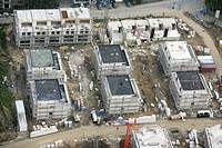 Construction site of a housing complex in Essen, North Rhine-Westphalia, Germany, Europe
