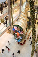 Christmas decoration in the shopping arcade - Europa Passage -, HAMBURG, GERMANY, EUROPE