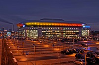 SAP-Arena in early evening during a World Men's Handball Championship event in Mannheim, Germany, Europe