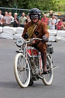 1912 Oldtimer Excelsior motorcycle at a vintage motorcycle race in Schotten, Hesse, Germany, Europe