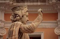 Statue of Judge Eleonora di Arborea, Oristano, Sardinia, Italy
