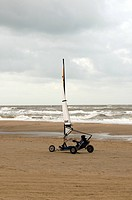 Sand sailing on the beach of Wassenaar, The Netherlands