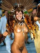 Carnival parade at the Sambadrome, Rio de Janeiro, Brazil