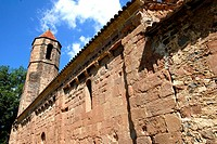 romanesque chuech in Sant Joan les fonts,garrotxa,catalonia,spain