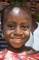 Portrait of young Gambian girl, Bakadagi, The Gambia