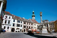 Marian column and fire tower in Sopron, Hungary, Sopron
