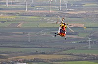 Eurocopter Medicopter BK 117 in flight