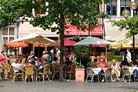 Street cafe, Ghent, East Flanders, Belgium, Europe