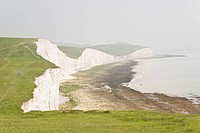 The chalk cliff in Seven Sisters Country Park