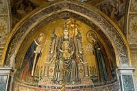 Mosaics, Duomo di San Gennaro (Cathedral of Naples), historic centre of Naples, Campania, Italy