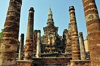 Wat Mahathat temple, Thailand, Sukhothai