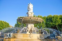 Fontaine de la Rotonde in Aix_en_Provence, Provence_Alpes_Cote d'Azur, France