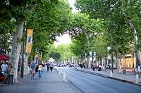Cours Mirabeau in Aix_en_Provence, Provence_Alpes_Cote d´Azur, France