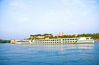 Rhone River, Cruise Ship in Avignon, Provence_Alpes_Cote d'Azur, France