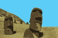 Chile, The Moai Statues in Rapa Nui, Easter Island, UNESCO, World Cultural Heritage